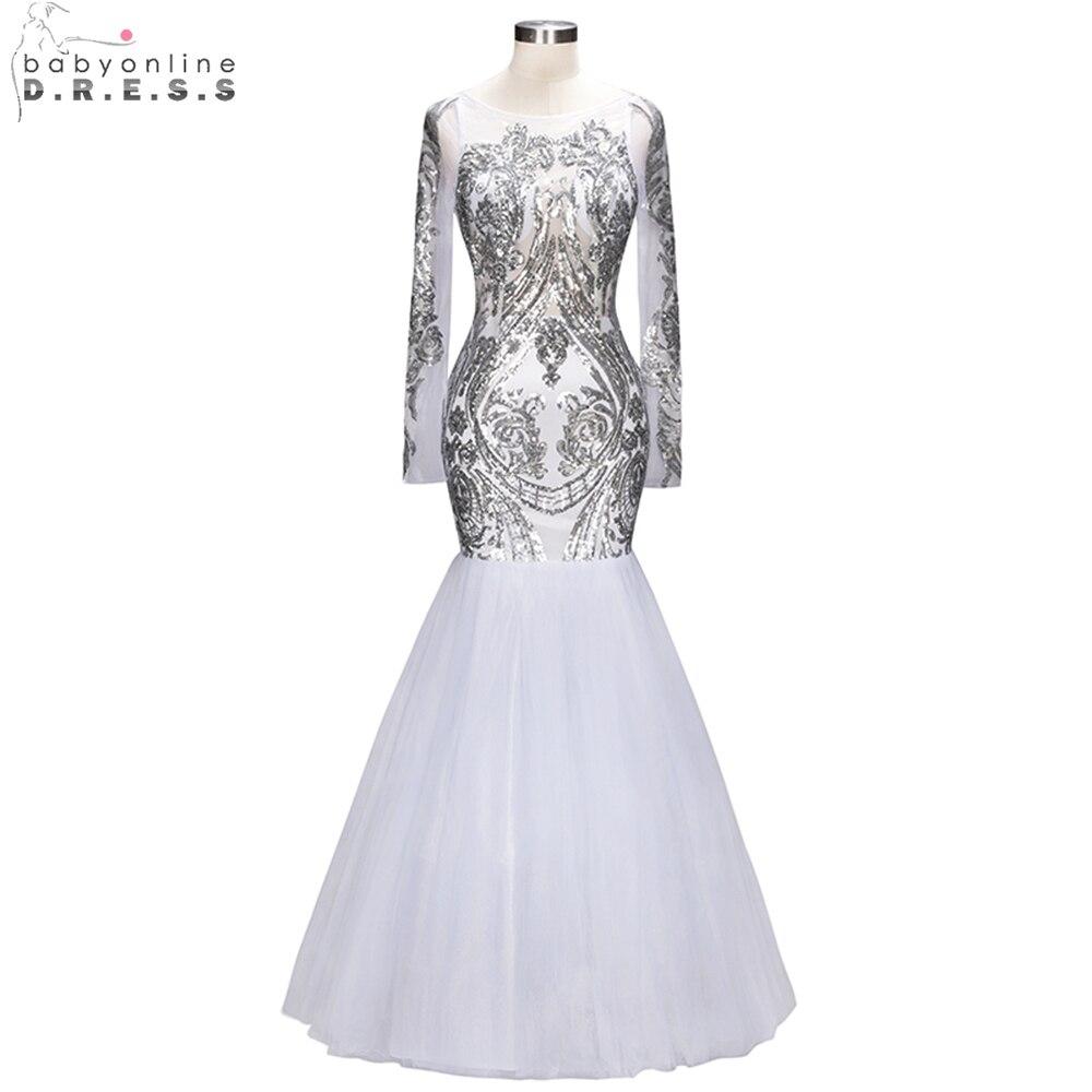 6da15d562b36 Silver Sparkly Mermaid Prom Dresses - raveitsafe