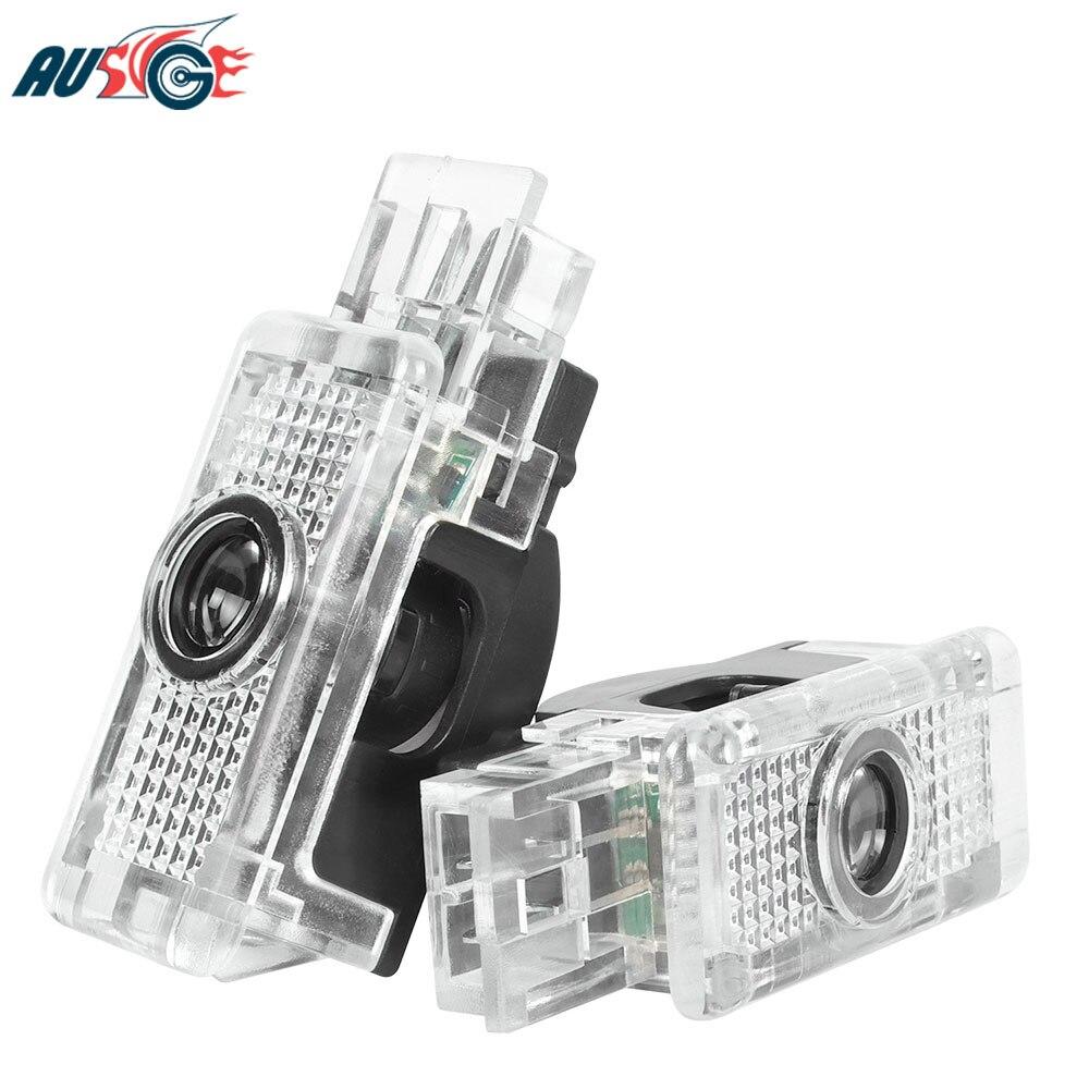 2x Car Accessories For Mercedes Benz W203 W240 W209 R199 R171 C SLK CLK SLR Class Car Logo LED Door Welcome Light