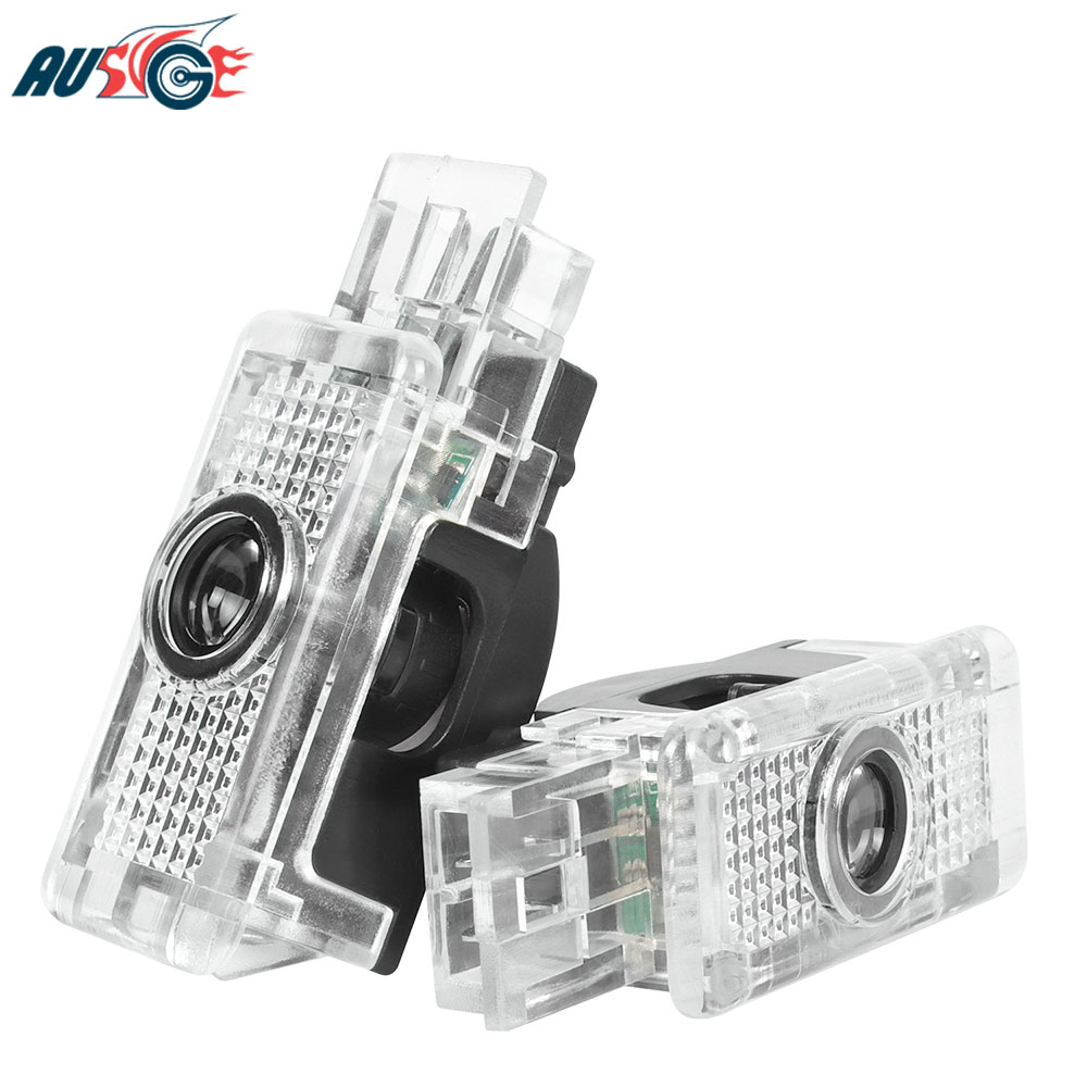 2x Car Accessories For Mercedes Benz W203 W240 W209 R199 R171 C SLK CLK SLR Class Car Logo LED Door Welcome Light image