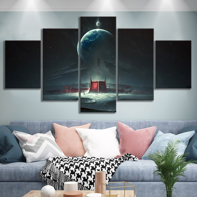Destiny 2 Shadowkeep Video Games Art Frameless Paintings HD Fantasy Game Poster Wall Art Oil Paintings for Bedroom Wall Decor 2