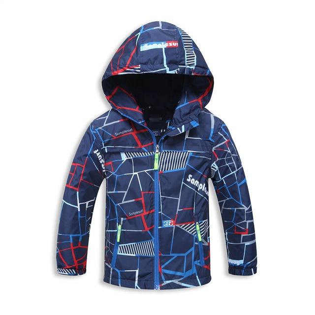 Куртка для мальчиков для Демисезонный флисовые пальто с капюшоном для детей 3-12Years детская ветровка Модный плащ Куртка для мальчиков