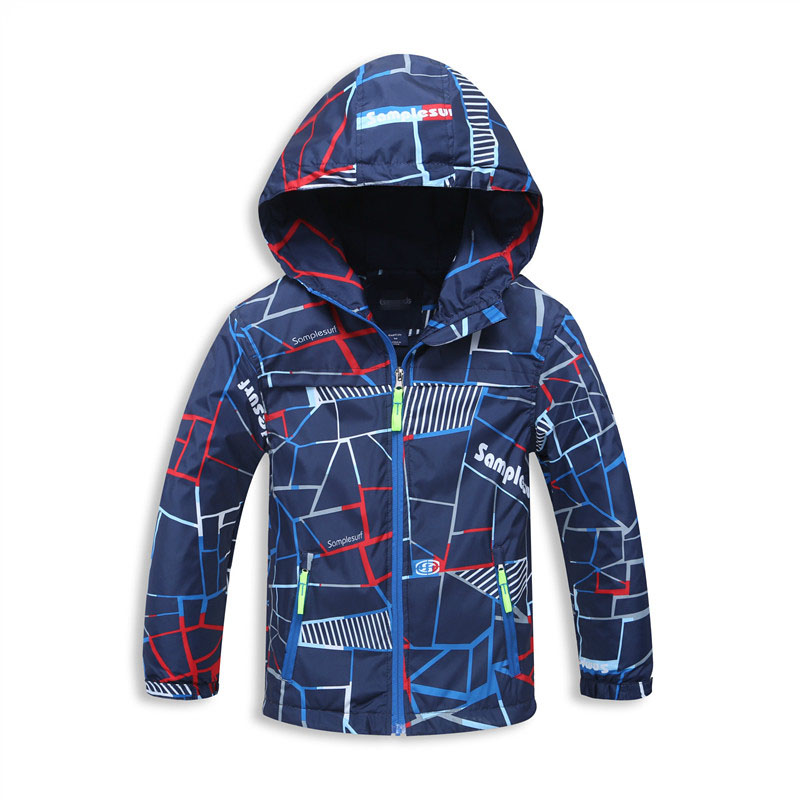 Spring Jacket For Boys Höst Fleece Hooded Coat Kids 3-12Years Barn Jackor Windbreaker Mode Trench Coat Chaqueta Nino