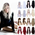 "23"" 60cm Women Girl's Fashion Long Straight Full Head Wigs Synthetic High Heat Resistant 11 Colors Available"