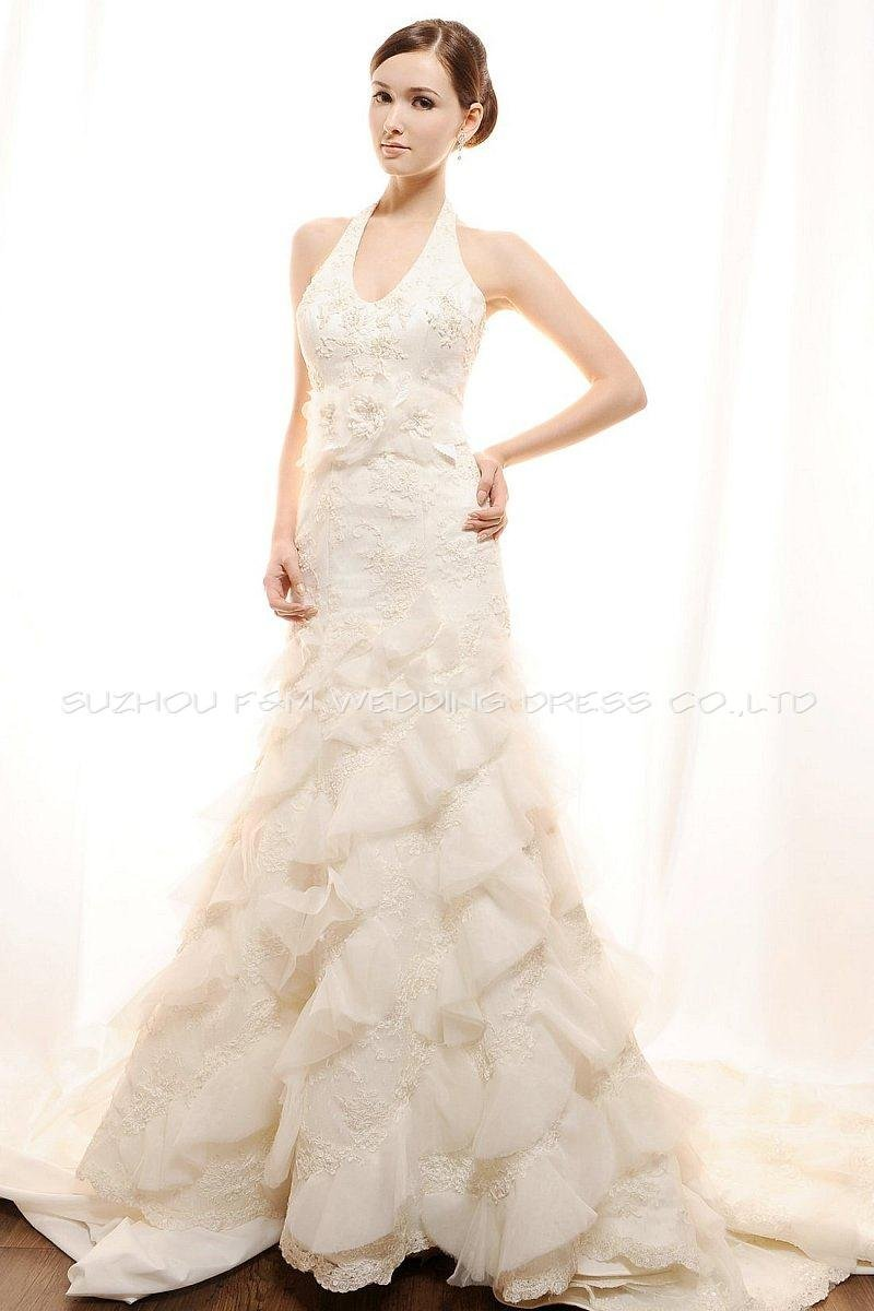 Factory outlet center F&M 2013 Lace&Organza wedding dress with a ...