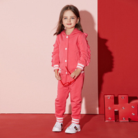 2017 Autumn Baby Girl Toddlers Outfit Sports Set Hot Pink Ruffle Boutique Sets Cute Costumes for Children Age 2345678 Years Old