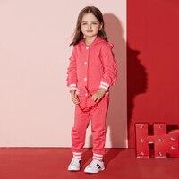 2017 Outono Roupa Do Bebé Crianças Esportes Definir Rosa Quente Ruffle Boutique Define Trajes Bonitos para Crianças 2345678 Anos de Idade velho