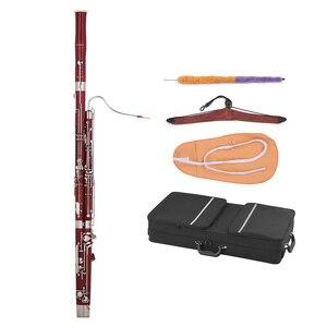 Image 1 - Ammoon C キーファゴットカエデ材ボディ白銅シルバーメッキキー木管楽器リード手袋キャリングケース