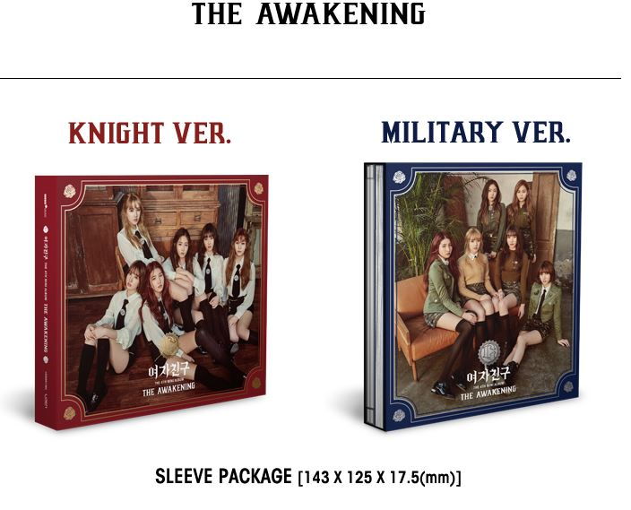 GIRLFRIEND GFRIEND 4TH MINI ALBUM- THE AWAKENING (KNIGHT VER) + (MILITARY VER)  Release Date 2017.03.07 exo 4th album repackage the war the power of music chinese ver korean ver 2 version set release date 2017 09 06