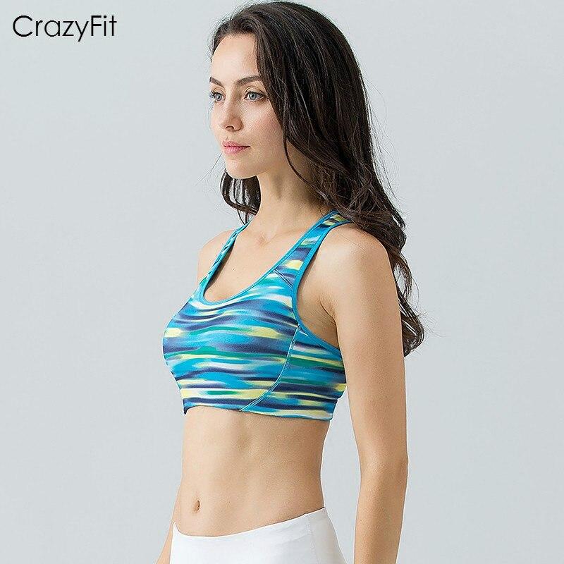 Prix pour Top qualité CrazyFit femmes compression yoga de course entraînement sportif Recueillir soutien-gorge