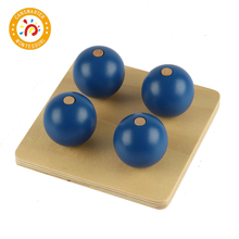 Montessori Kids Toy High-Quality Four Balls On Small Pegs For Early Education