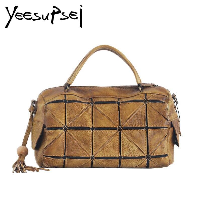 YeeSupSei sac de voyage grande capacité bagage masculin sac de voyage en cuir véritable sacs à main de voyage sac de voyage étanche