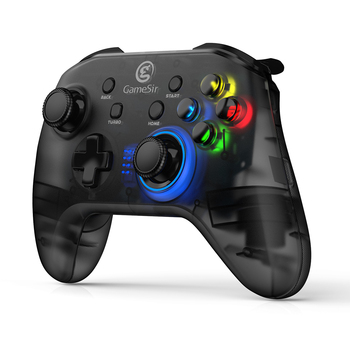 GameSir T4 USB Wired Gamepad for PS3 with D-Pad Joystick/Colorful LED and Motor Vibrator
