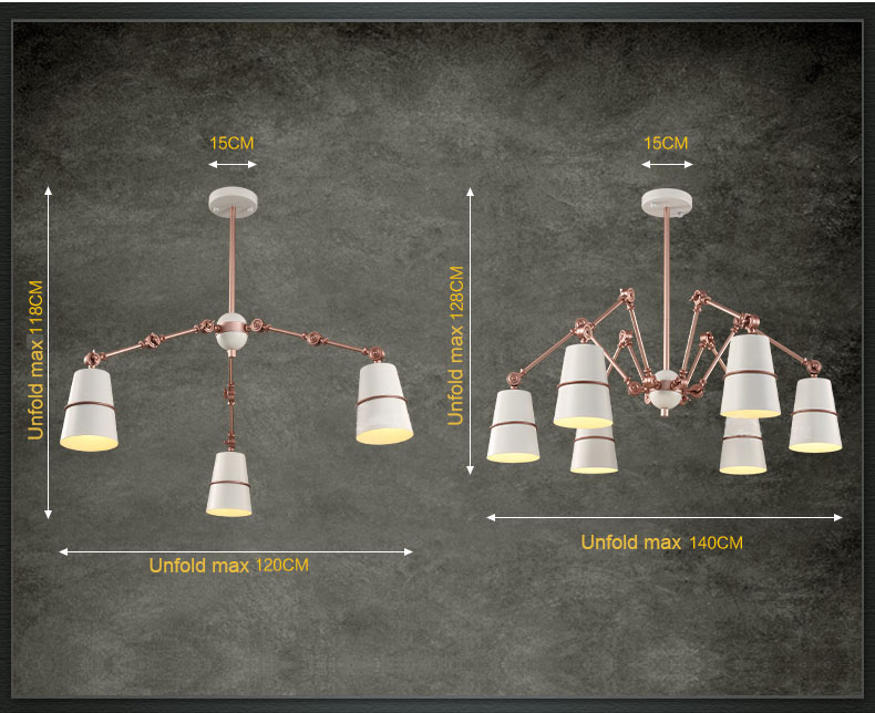 Moderne Lampen 8 : Moderne flexible spinne anhänger licht lampe arme