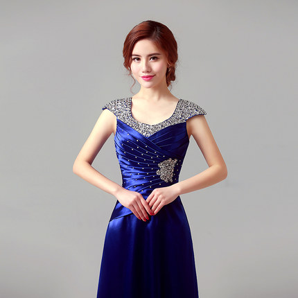 Sequins new autumn and winter banquet elegant fashion host choral classic female long dress