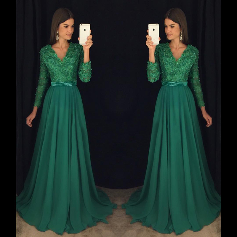 Aliexpress.com : Buy Charming Emerald Green Girl Prom ...