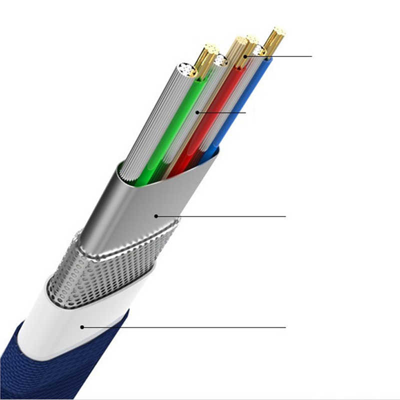 USB نوع-C كابل لسامسونج S9 S8 كابل يو اس بي ل فون x شاحن كابل شحن ل فون 8 7 6 6s زائد المصغّر usb كابل للهاتف