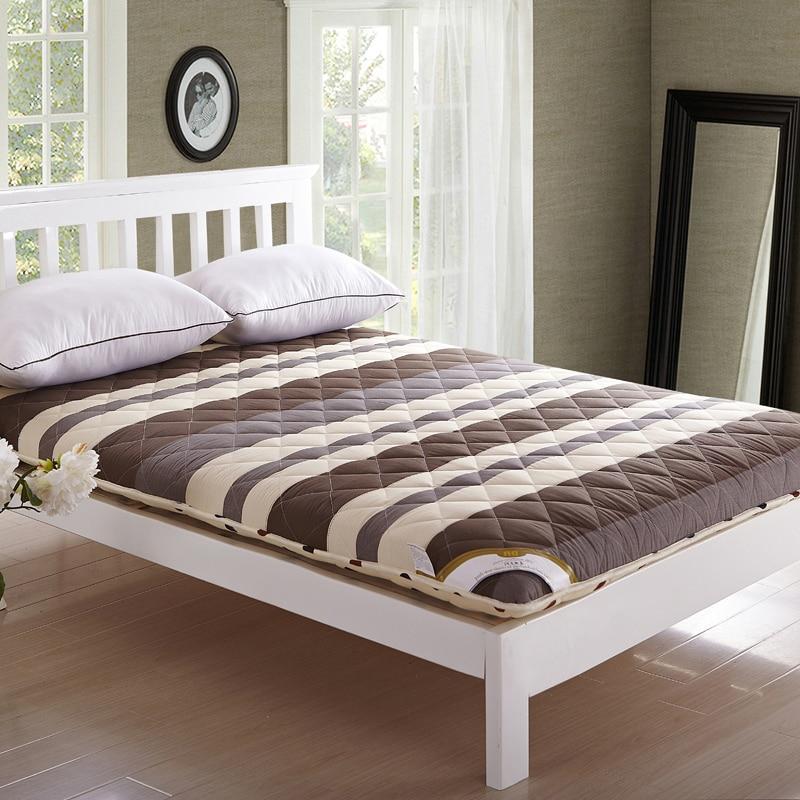 Maison Textile matelas 10 cm d'épaisseur 100% coton mattess lit coussin coussin de lit garder au chaud deux côté gagnant tapis 2015 nouvelle literie 5kgs