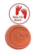 Baby Foot Print Vintage Custom Luxury Wax Seal Sealing Stamp Brass Peacock Metal Handle Sticks Melting