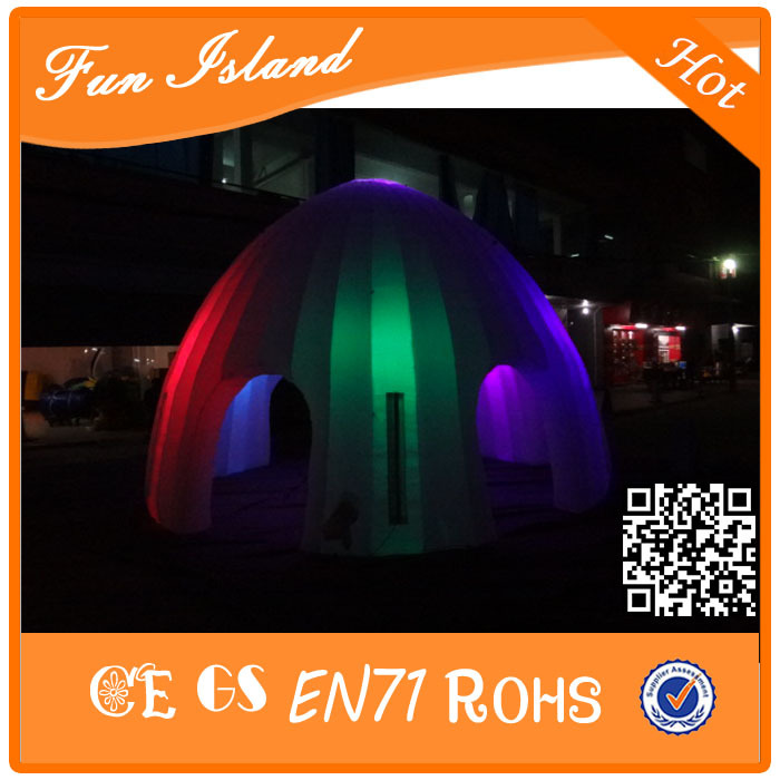 Free Shipping Custom party inflatable led tent giant light inflatable event tent for sale romatic inflatable light ivory for event and party decoration