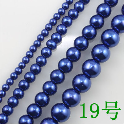 Whole Royal Blue Gl Imitation Pearl Round Beads Fashion Necklace Bracelet Earrings Accessories 4 6 8 10 12 14mm 13