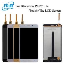 "WEICHENG أعلى جودة ل 5.5 ""Blackview P2 شاشة الكريستال السائل و مجموعة المحولات الرقمية لشاشة تعمل بلمس استبدال Blackview P2 لايت + أدوات"