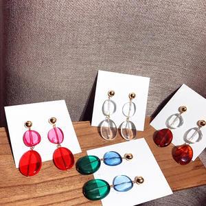 22e581941 AOMU 2018 Design Acrylic Long Drop Earrings for Women