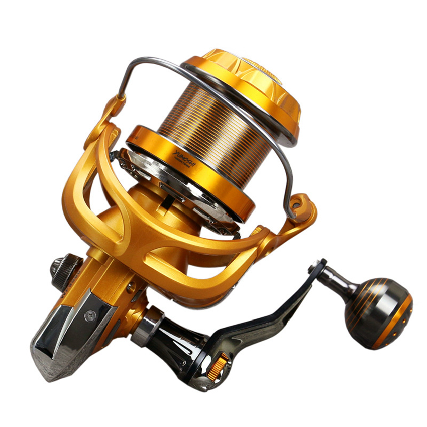YUMOSHI fishing reel 4000-9000 metal fishing reels 10BB long shot casting spinning wheel carp salt water surf spinning reel fishing reel long shot casting sea salt water spinning reel 3000 9000 full metal wire cup carretilha pesca