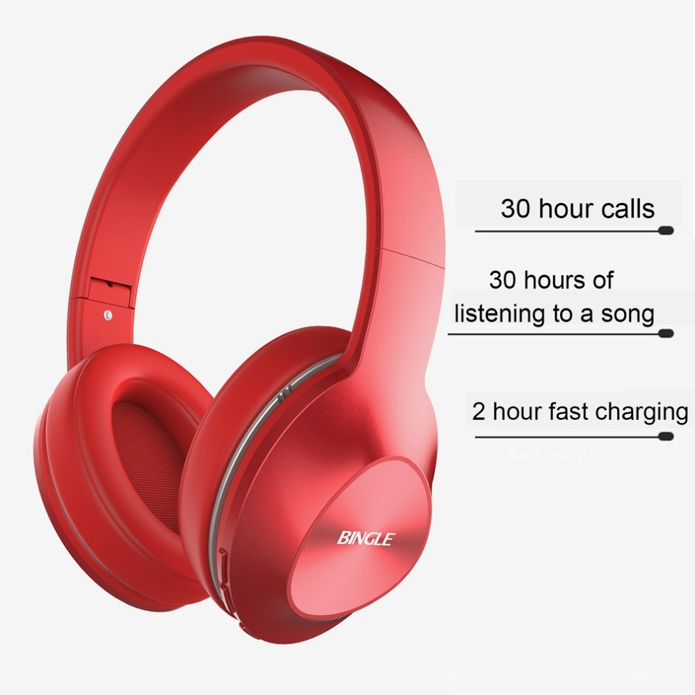 Bingle Q5 Bluetooth 4.0 Headphone Stereo Hifi Wireless Foldable Headphones Headband Headset Stylish Music Earphone Mic for Phone