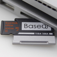 350A Original BASEQI Aluminum MiniDrive Micro SD Card Adapter TF Card Reader For Microsoft Surface Book