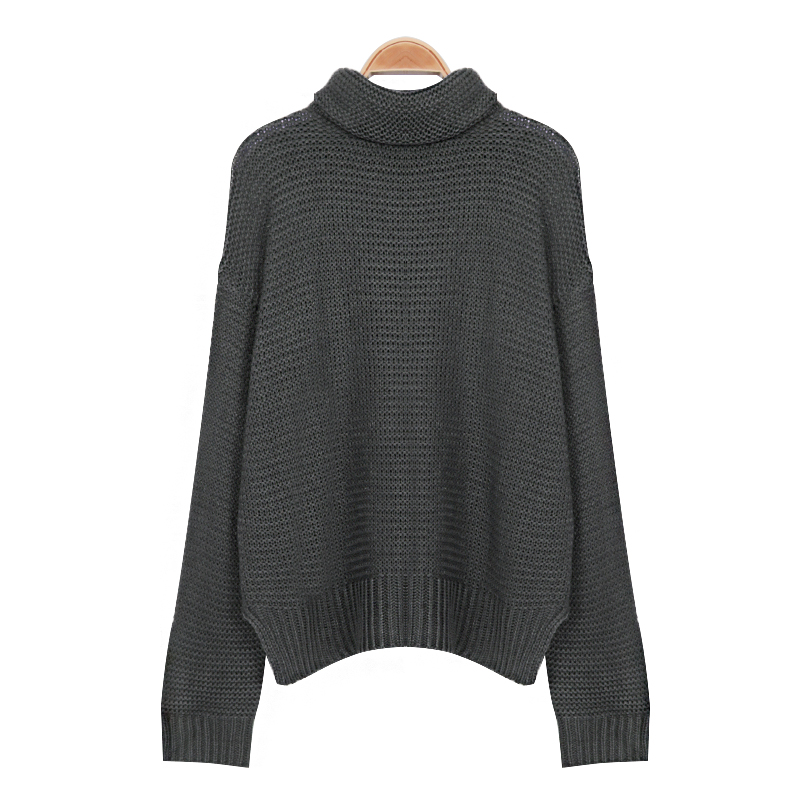 Winter Classic Women Sweater New Fashion Casual Korean Style Turtleneck Sweater Vintage Full Sleeve Jumper Knitted Sweater Femme