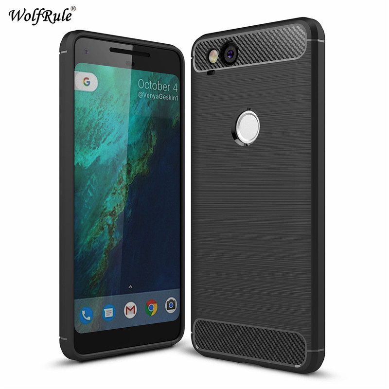 WolfRule For Case Google Pixel 2 Cover Shockproof TPU Brushed For Google Pixel 2 Case For Google Pixel2 Phone Shell 5.2