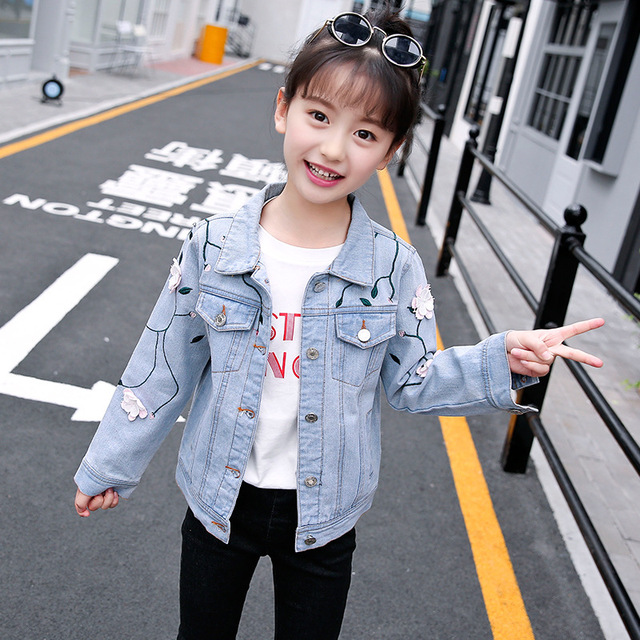 66862bd998a Jeans Jackets For Girls Back To School Outfits Denim Coats Toddler Girl  Clothing Long Sleeve Kids Outwear Fall Clothes 8 9 10 12