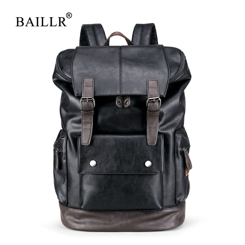 BAILLR Brand Laptop Backpack Men Women Bolsa Mochila for 14-15Inch Notebook Computer Rucksack School Bag Backpack for Teenagers bagsmart new men laptop backpack bolsa mochila for 15 6 inch notebook computer rucksack school bag travel backpack for teenagers
