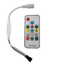 Мини 3key RF 14key 21key мини маленький светодиодный пиксельный светильник контроллер для WS2811 SK6812 WS2812B 6803 1903 с пультом дистанционного управления