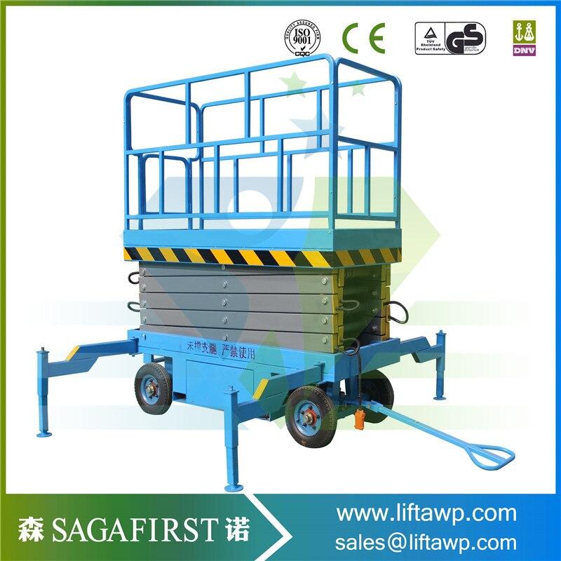 Buy Discount Mobile Hydraulic Semi Electric Aerial Platform Scissor Lift