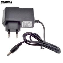 "GADINAN האיחוד האירופי AU בריטניה ארה""ב Plug סוג 12V 1A 5.5mm x 2.1mm ספק כוח AC 100  240V כדי DC מתאם תקע עבור טלוויזיה במעגל סגור מצלמה/IP מצלמה"