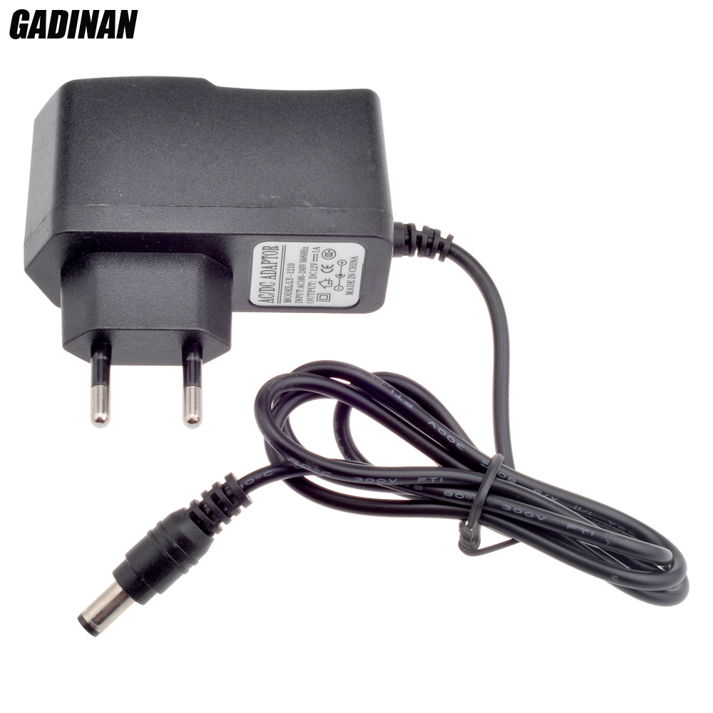 GADINAN EU AU UK US Plug Type 12V 1A 5.5mm x 2.1mm Power Supply AC 100-240V To DC Adapter Plug For CCTV Camera / IP Camera ac to dc 12v 1a power adaptor with 5 4mm dc plug eu type 110 240v