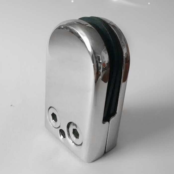 5x 12X Stainless Steel Glass Clamp Holder For Window Balustrade Handrail 53*33*20 mm - 2