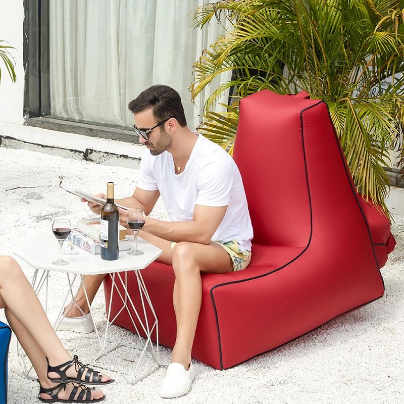 Garden Air Sofa Portable Single Moisture Water Proof Floor Inflatable Lazy Sofa Bed Outdoor Beach Mat