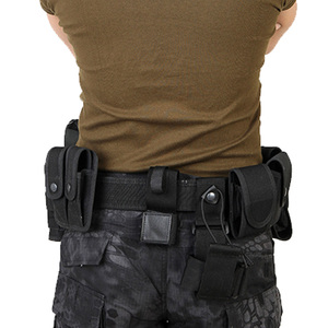 Image 2 - Utility Belt Waist Bag Pouch Mens Security Police Guard Patrol Kit with Radio Holster Tools for outdoor
