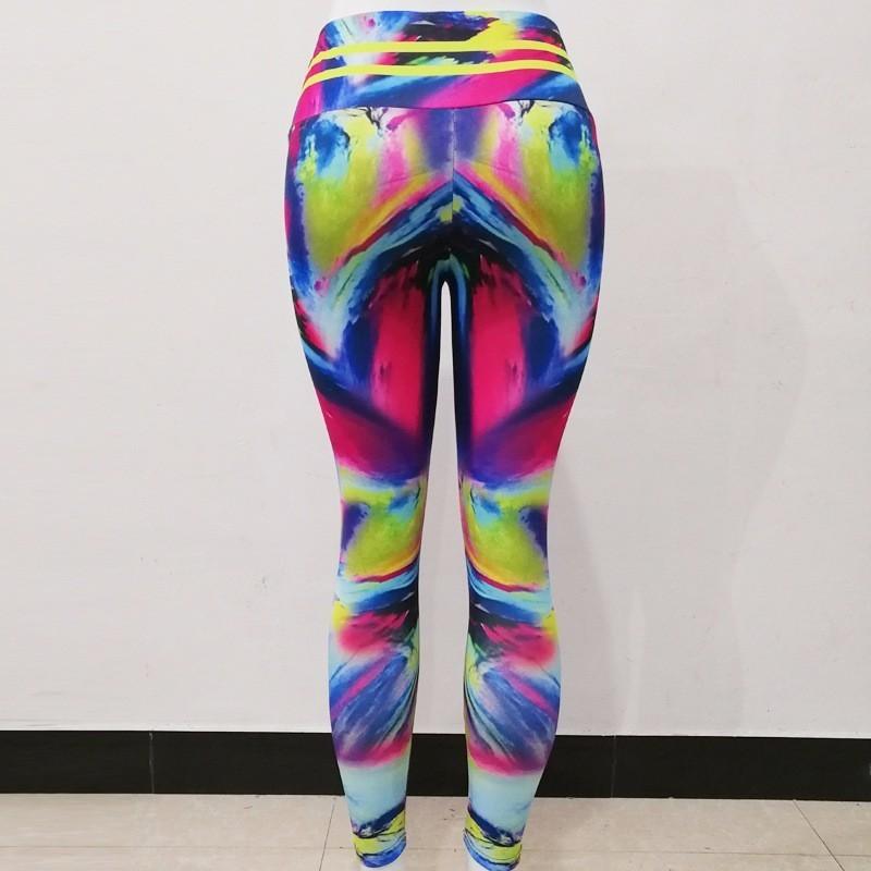 sem costura leggings barriga controle yoga calças