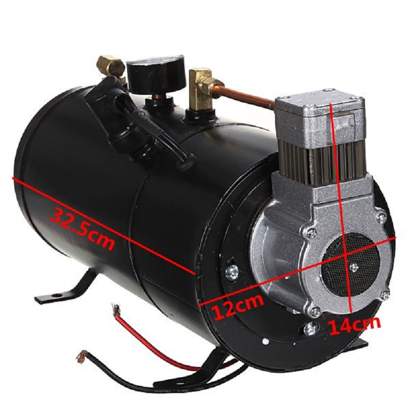 Travel & Roadway Product Alert 150 Psi 12v Compressor Electric Air Compressor With 3 Liters Tank Capacity For Air Horn Train Truck Auto Bicycles Tire H004 Automobiles & Motorcycles