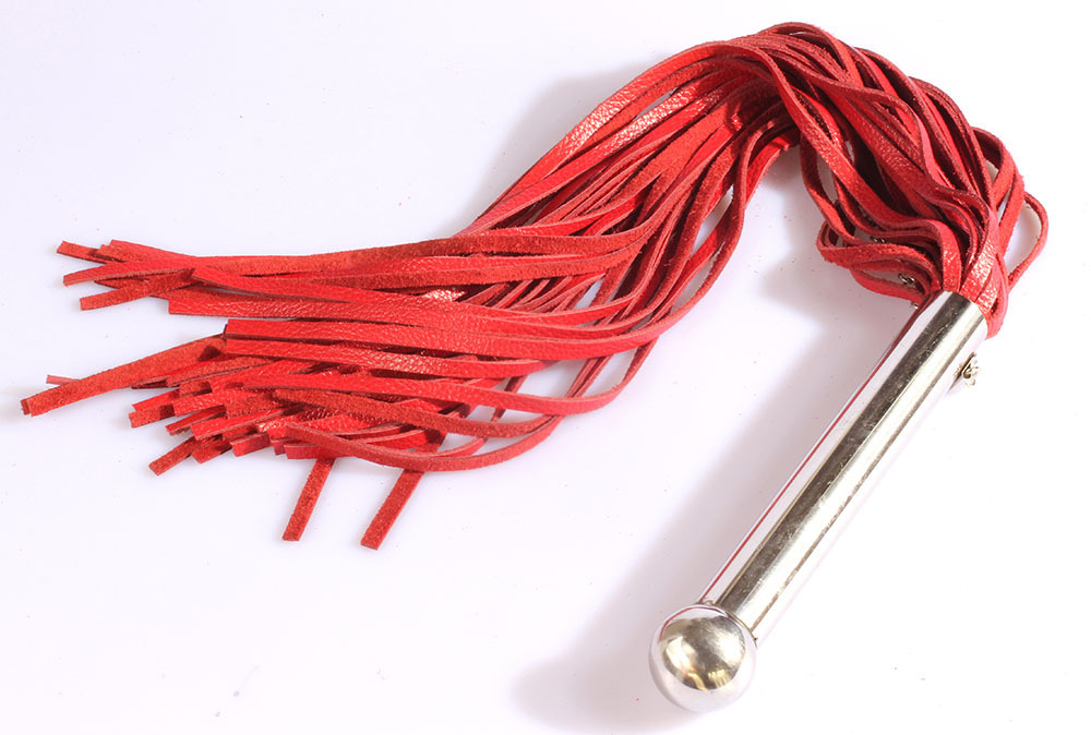 stainless steel dildo handle leather flogger, 68cm spanking lashing Horse whip, flirting sexy leather lash Knout sex toys