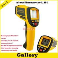 NEW GM1850 Non Contact LCD display IR Infrared Digital Temperature Gun Thermometer 200~1850C 80:1 RS232 interface Software CD