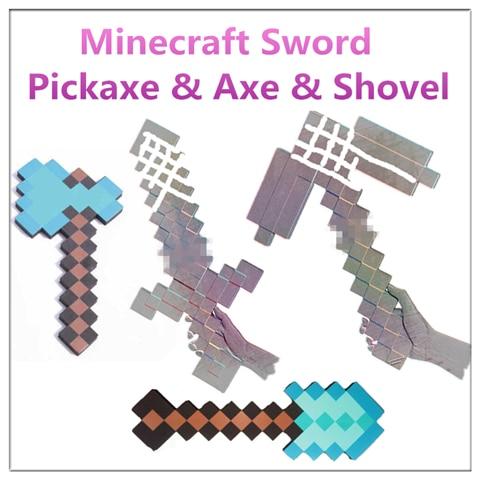 Minecraft Schwert Mosaik Schaum Diamant Schwert Und Spitzhacke - Minecraft spielen kinder