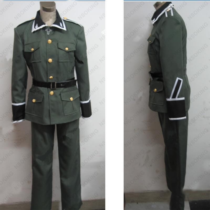 Anime Axis Powers Hetalia APH Ludwig Germany military uniform Cosplay Costume Custom Made