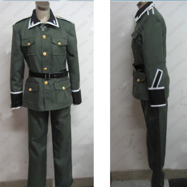 Anime Axis Powers Hetalia APH Ludwig Germany military uniform Cosplay Costume Custom Made