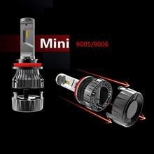 FYSZ 9005/9006 MINI LED Car Blade Headlight 30W 9-30V IP68 6000K Fog Lamp High Beam 5000LM Import Power Bead