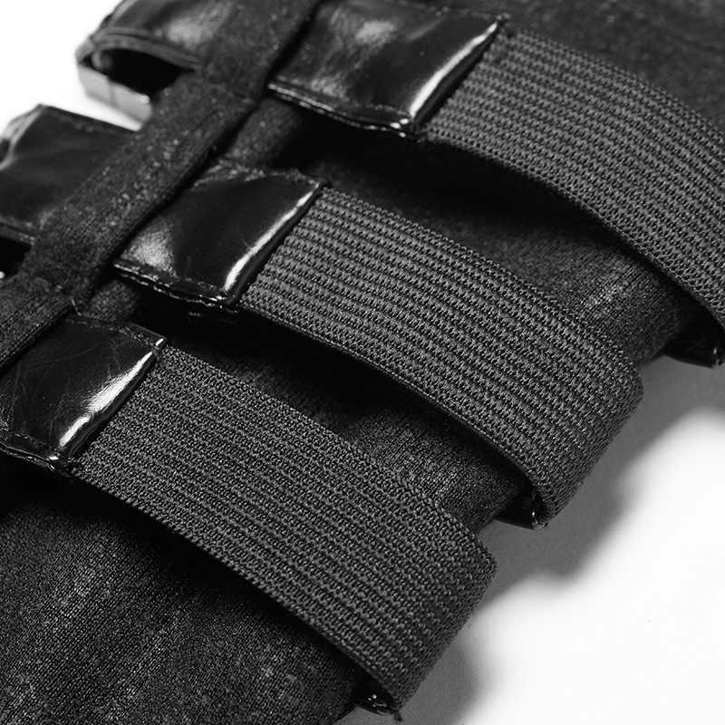 ゴシックバイク用手袋コスプレ 1 ペアスチームパンクメタルリベット包帯指の女性の手袋軍事パンク絶賛 WS-278SSF
