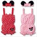 Ropa niños summer girls bebé mameluco del bebé niño ropa canastilla traje Jump traje diadema 2 unids Suit envío gratis